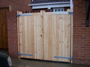 Timber drive gates