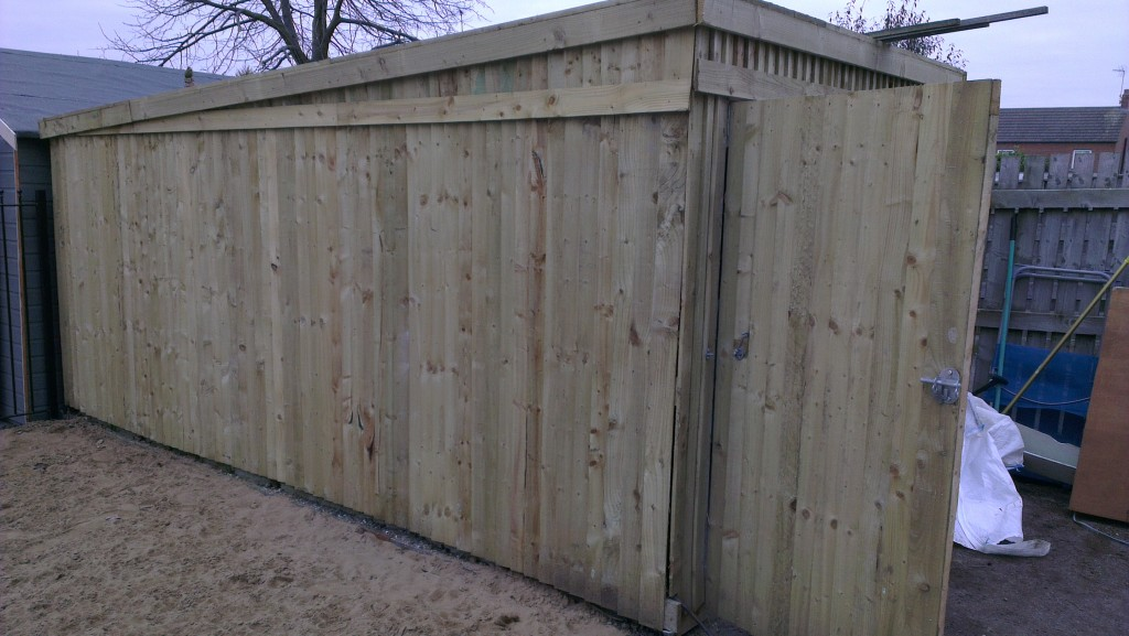 Wooden Clad Garage converted into Kennels